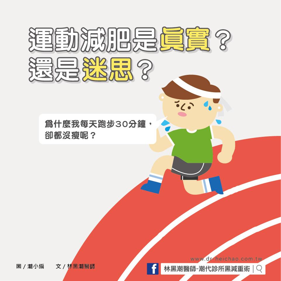 運動減肥是真實?是迷思?/文:林黑潮醫師