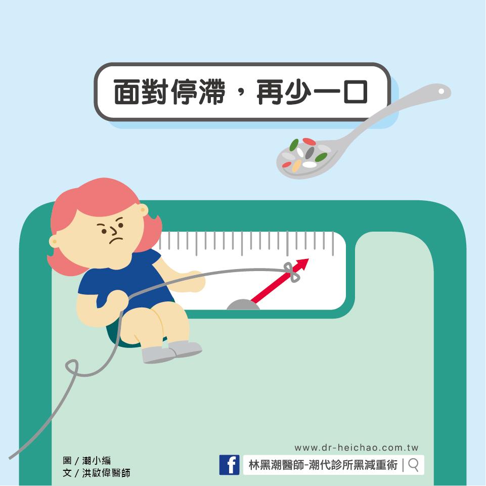 面對停滯,再少一口,減肥成功/文:洪啟偉醫師