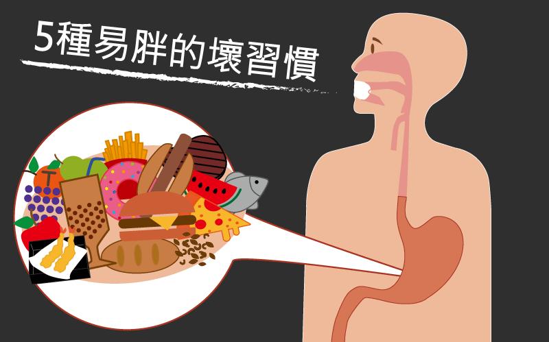 5種易胖的壞習慣/文:林黑潮醫師
