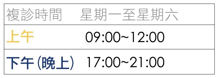 七月複診時間表