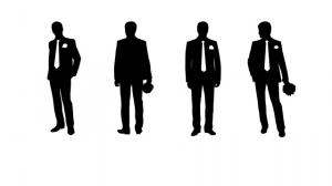 Silhouettes of Men Posing as True Man With Fashion