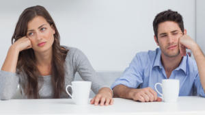 Bored Couple Having Relationship Issues