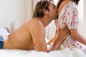 Intimate Couple - Man Teasing Her Partner