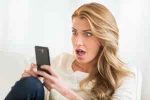 Cheating Boyfriend's Cellphone Caught by a Pretty Woman
