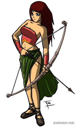 manga warrior woman