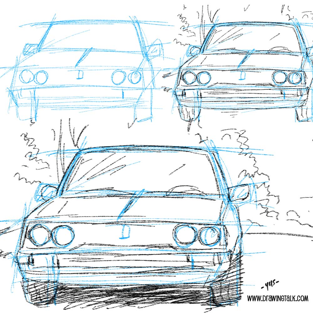 how to draw a car 1
