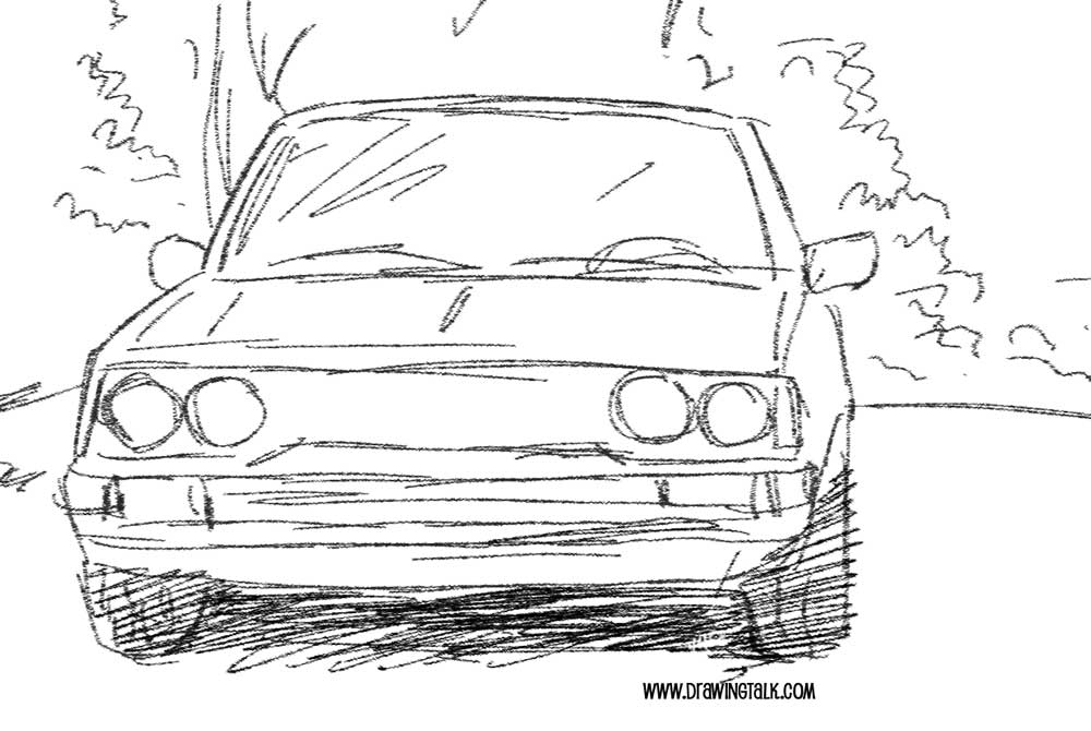 how to draw a car 2
