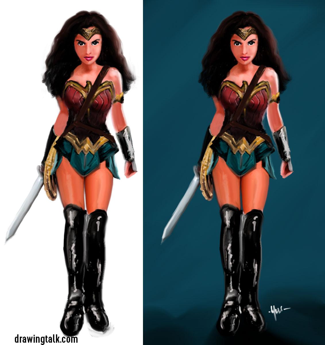 Easy Step by Step Drawings of Wonder Woman 3