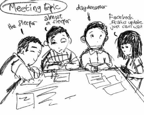 Doodle draw - Boring Meeting