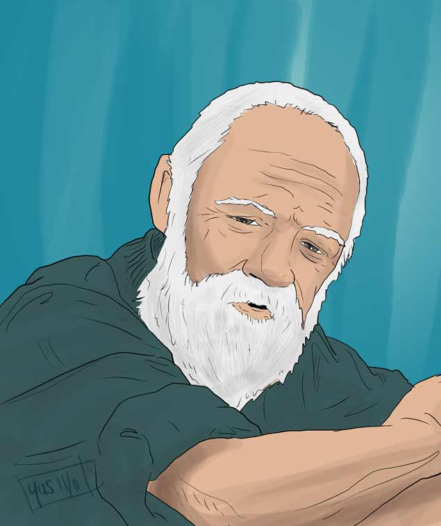 how to draw a wise man