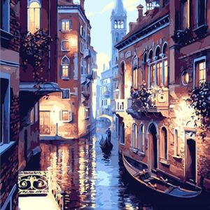 Venice Night Landscape DIY Oil Painting