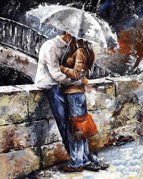 Romantic lover DIY painting