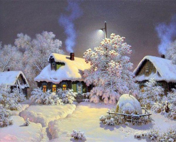 Snow House DIY Painting