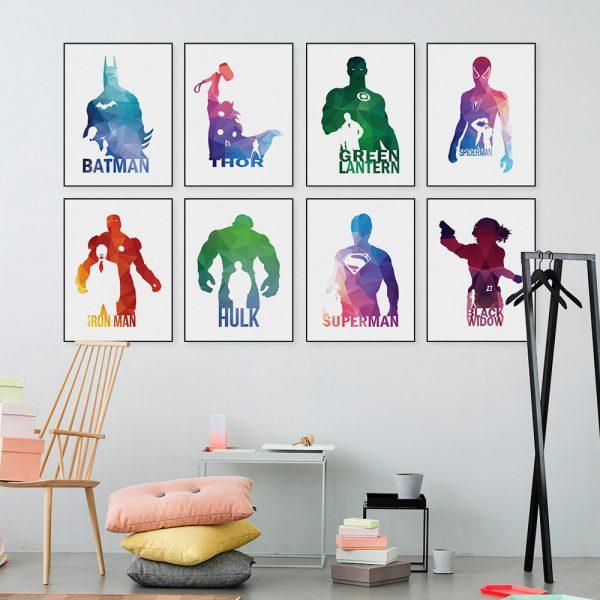 Hero Abstract Art Print