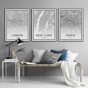 City Map Canvas Print