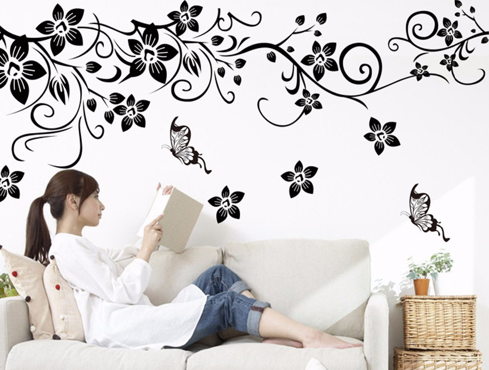 romantic flower wall sticker • drawing talk