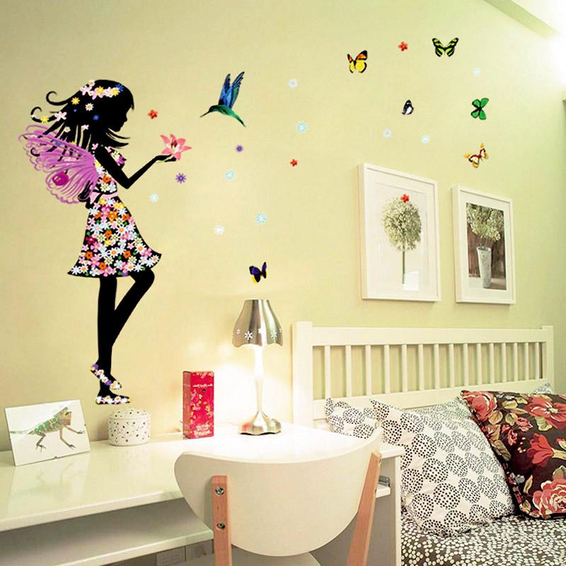 Beautiful Butterfly Elf Arts Wall Sticker