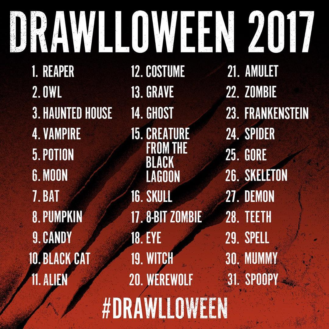 Drawlloween 2017 kevin luong