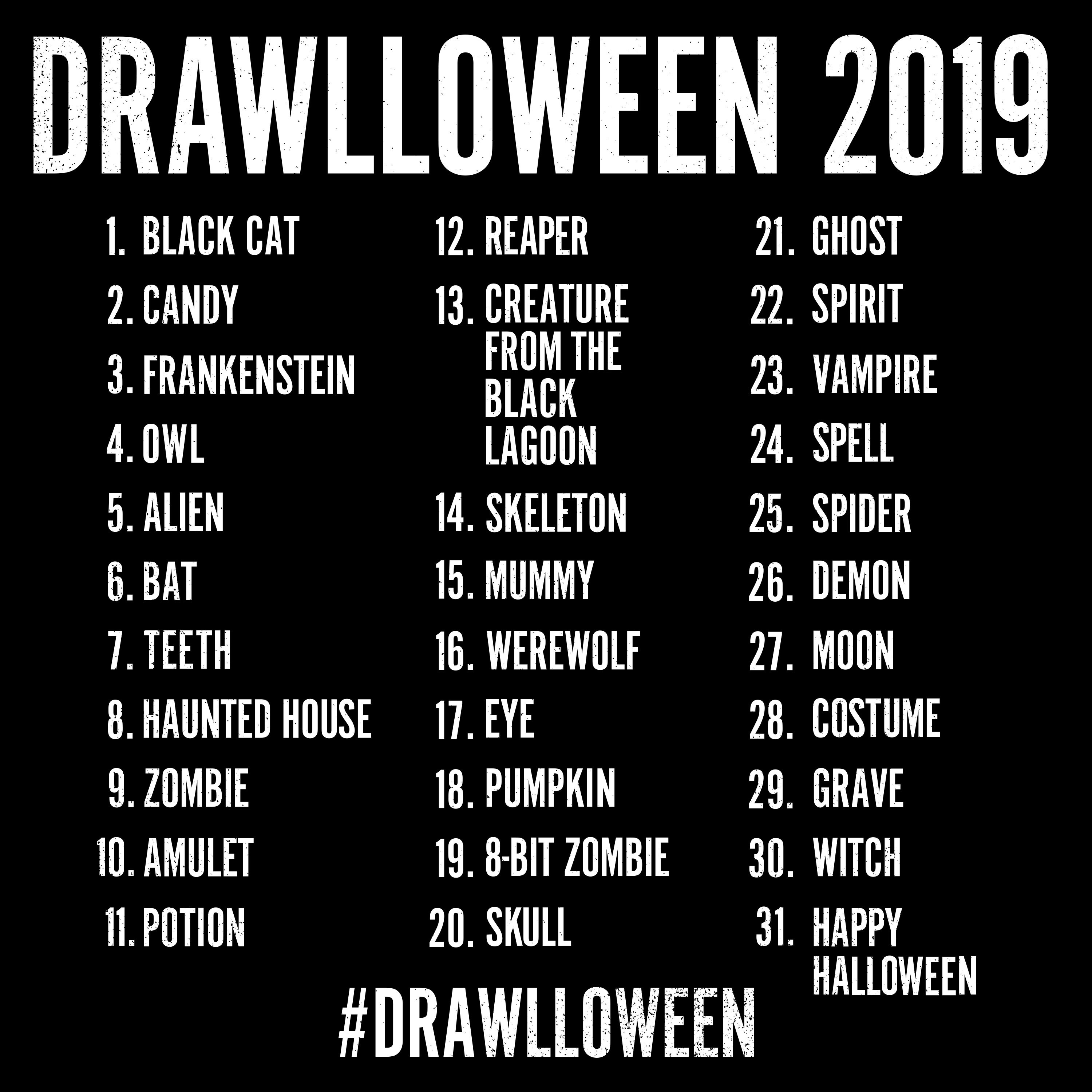 Kevin luong drawlloween 2018