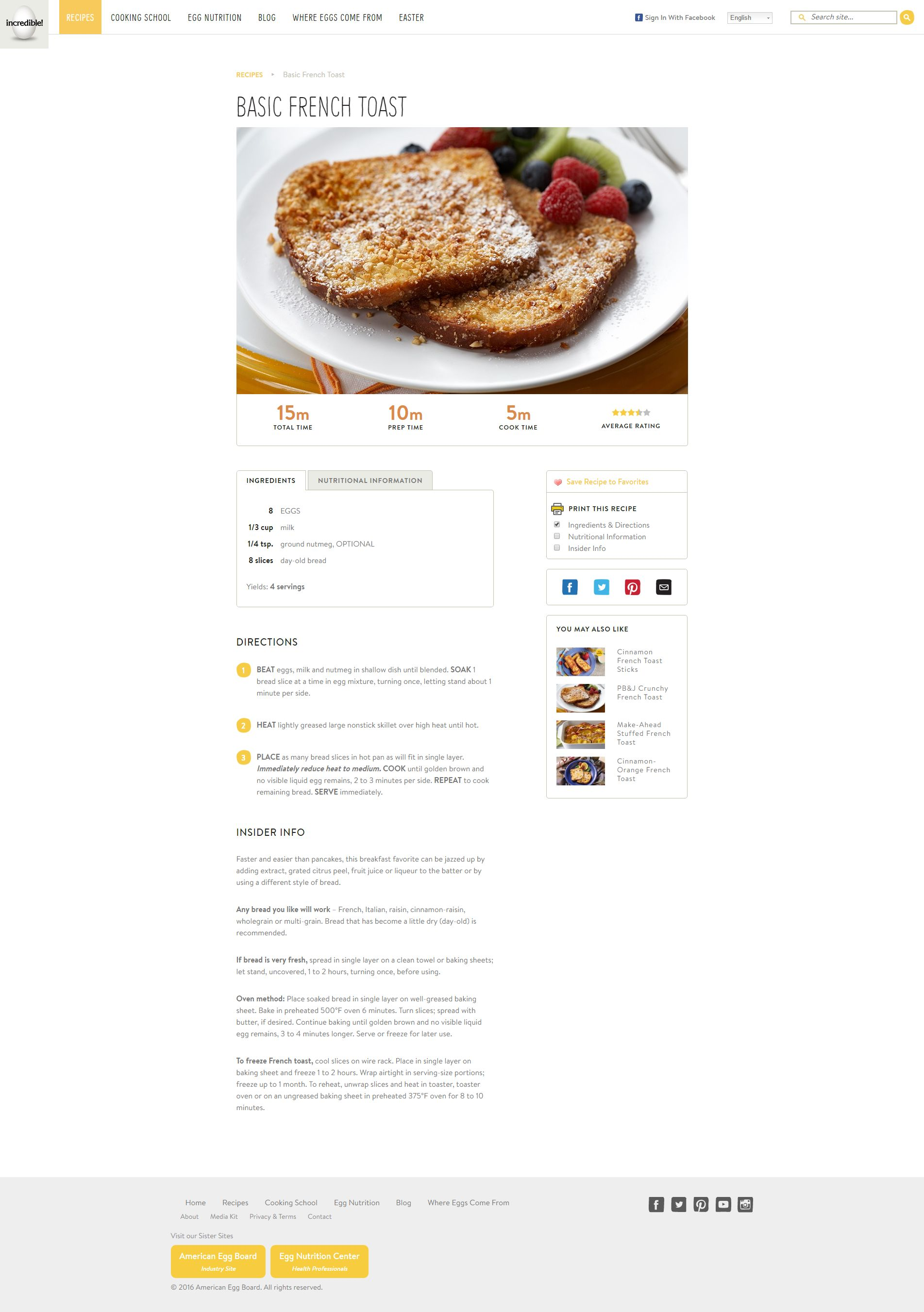 IncredibleEgg.org - Recipe