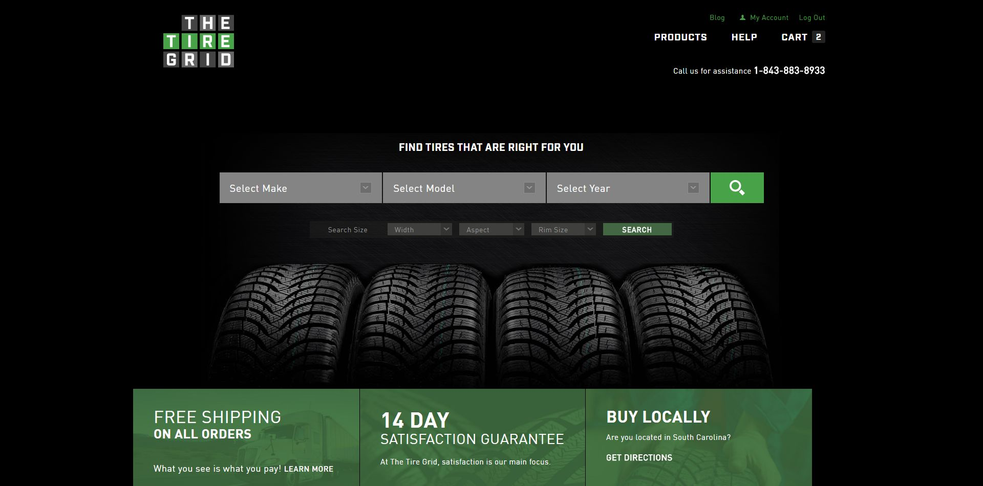 TheTireGrid.com WooCommerce Development - Home Page