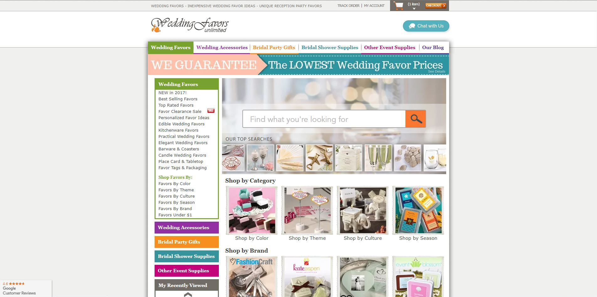 WeddingFavorsUnlimited.com Home Page