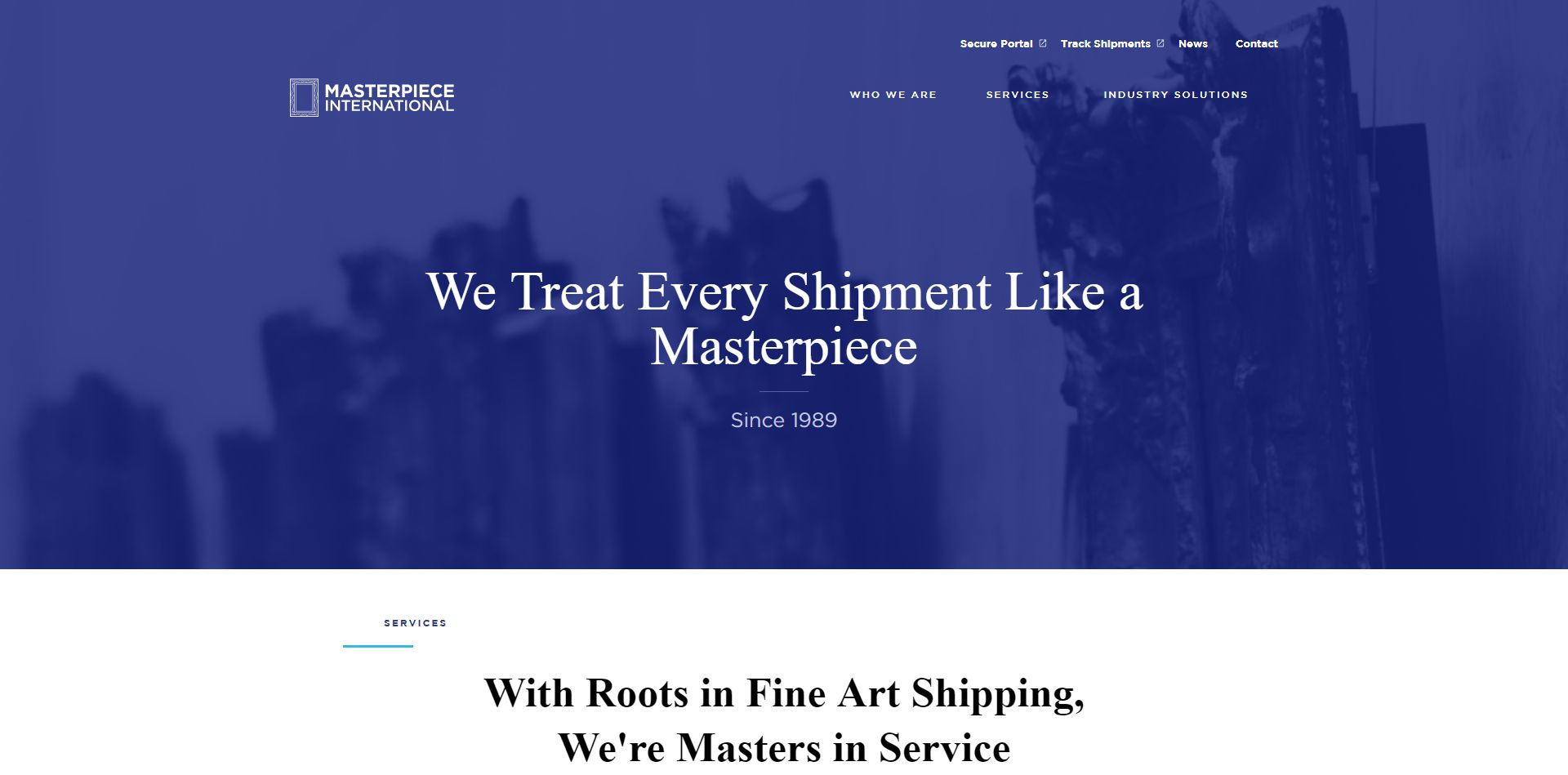 Portfolio - Masterpiece International Home Page
