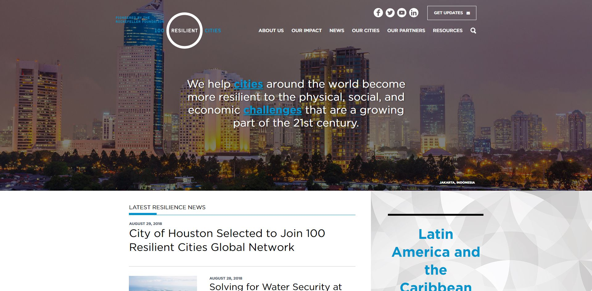100ResilientCities - WordPress Maintenance & Support