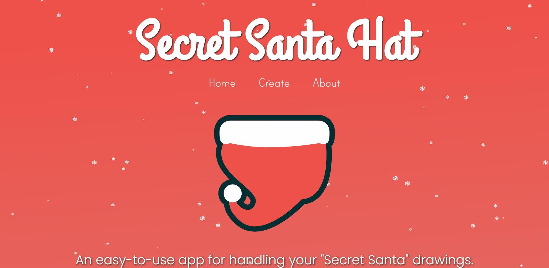 SecretSantaHat .com - Draw Names