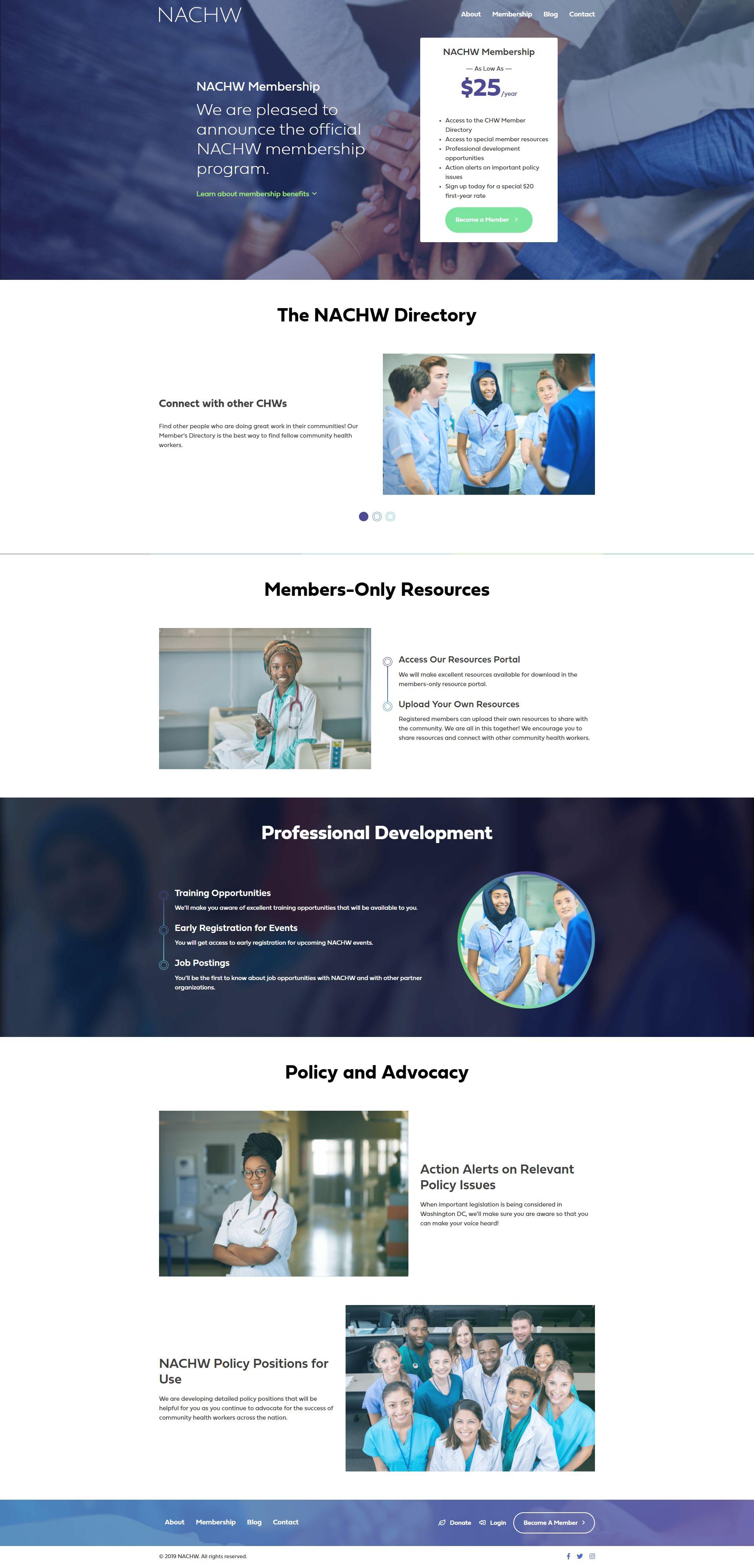 NACHW.org - Membership Detail Page