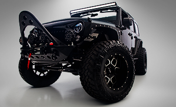 CUSTOM JEEP WRANGLER UNLIMITED BLACK ARMOR EDITION