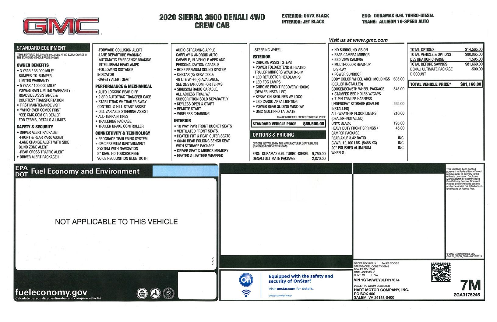 2020 GMC Sierra 3500 HD Denali