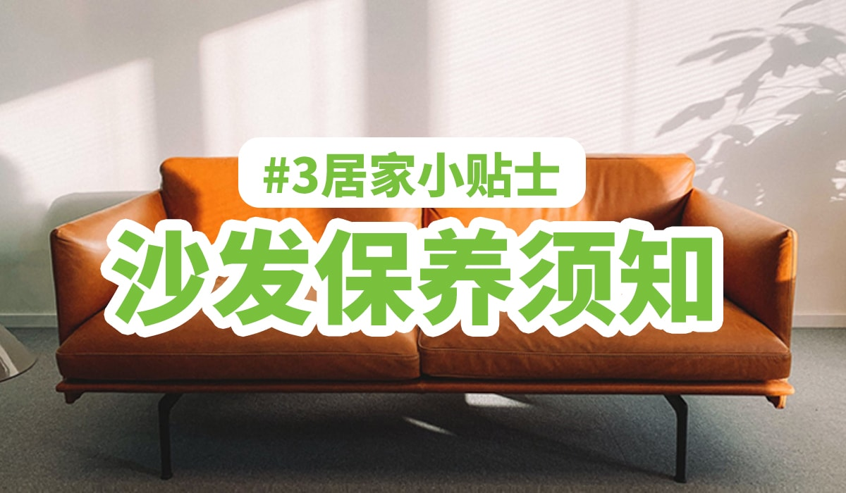 沙发保养须知 | 居家小贴士#3