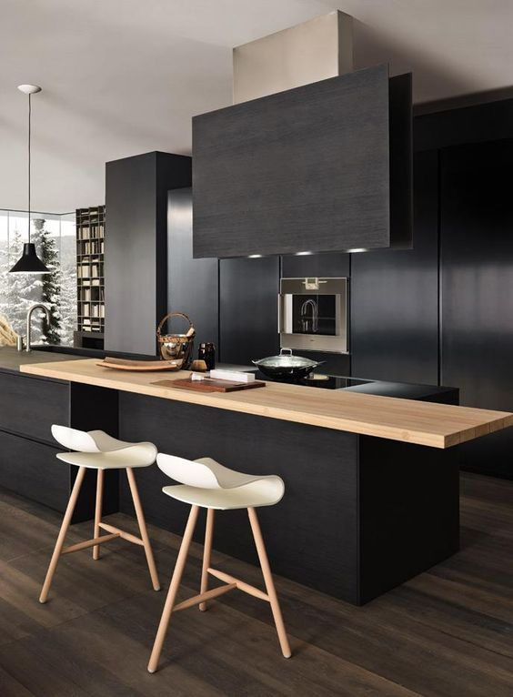 Chic Black Kitchen Cabinets4