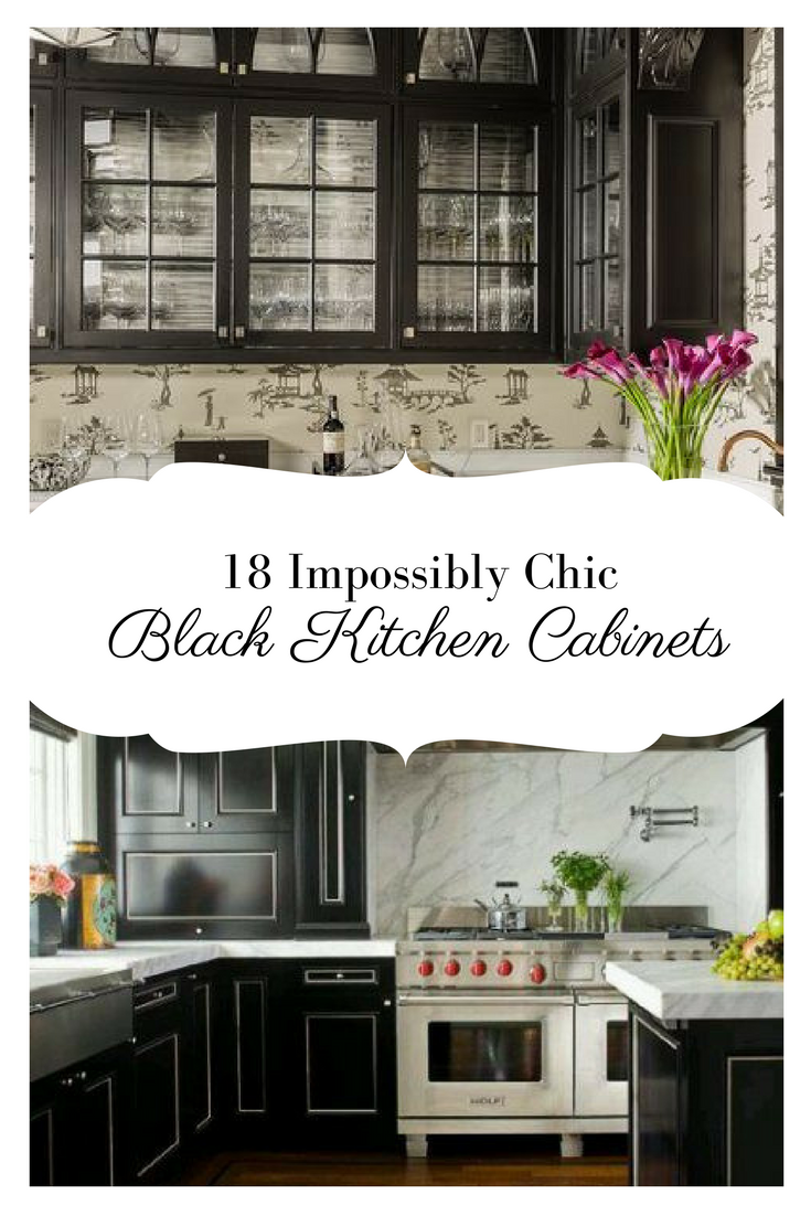 18 Impossibly Chic Black Kitchen Cabinets | Dream House Ideas