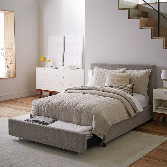 Contemporary Upholstered Storage Bed