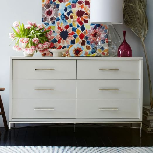 6 Drawer Dresser White