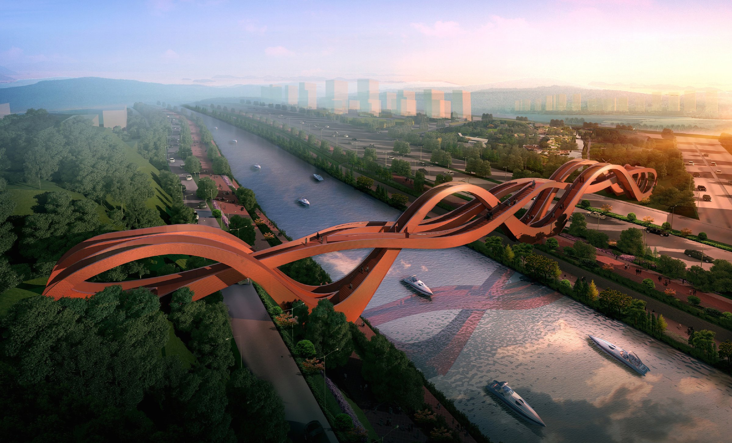 dragon-king-harbour-river-footbridge