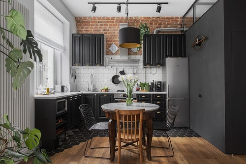 u-shaped-industrial-kitchen
