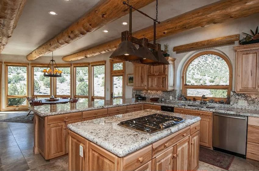 oak-L-Shaped-Kitchen-with-Island