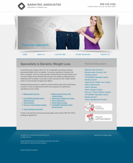Bariatric Surgery Website Preview #1