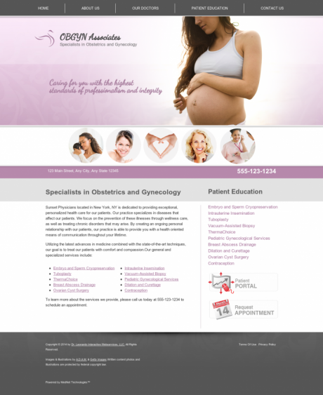 OBGYN Website Preview #1