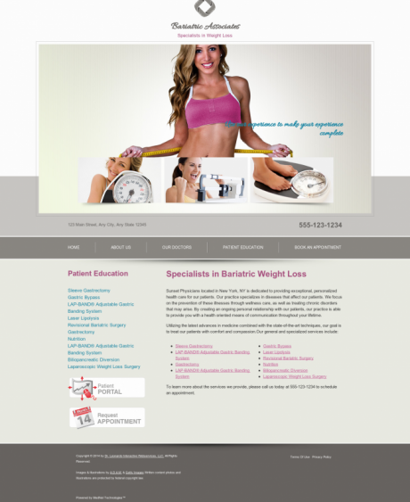 Bariatric Surgery Website Preview #2