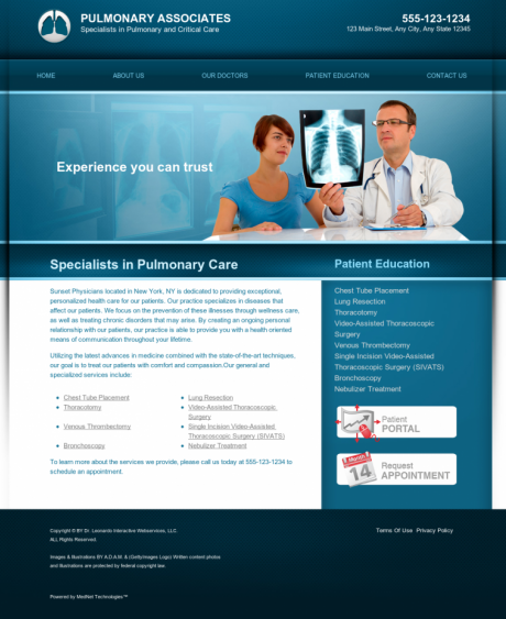 Pulmonary Disease Website Preview #3