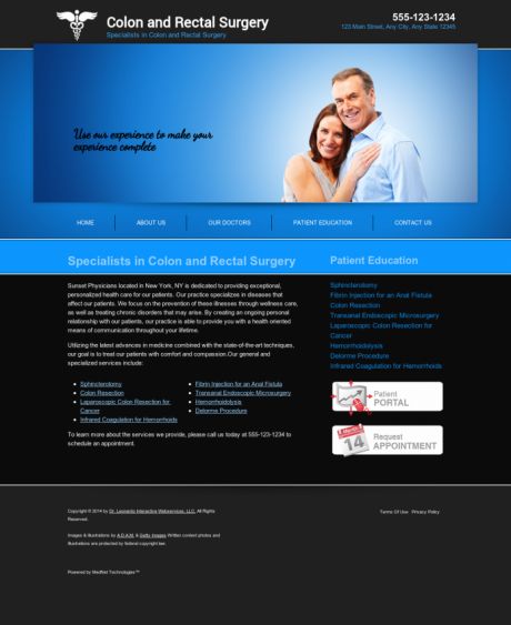 Colon & Rectal Surgery Website Preview #3