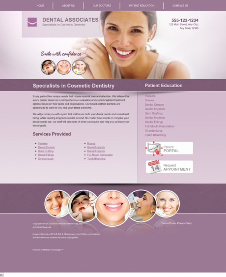 Cosmetic Dentistry Website Preview #14