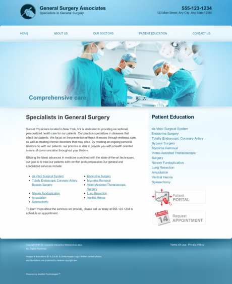 General Surgery Website Preview #1