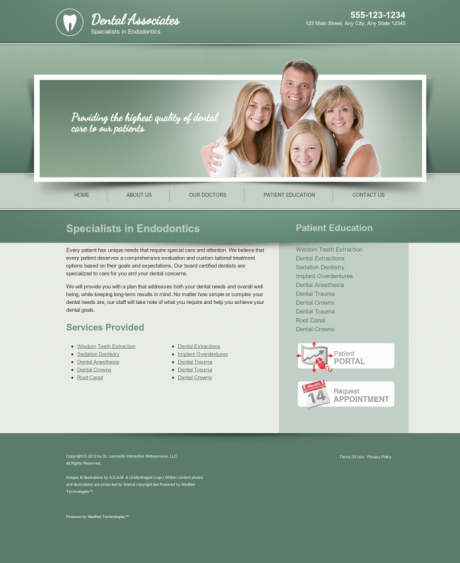 Endodontics Website Preview #1