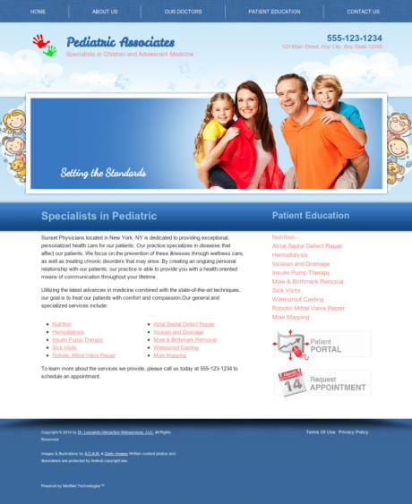 Pediatrics Website Preview #3