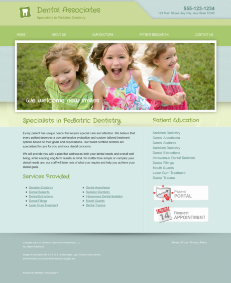 Pediatric Dentistry Website Preview #6